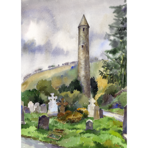 glendalough tower wicklow art