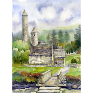 glendalough wicklow ireland print