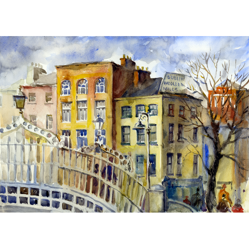 ha'penny bridge print
